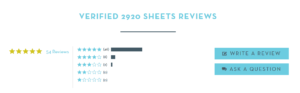 2920 Verified Sheet Reviews by Consumers